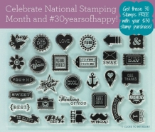 close to my heart CTMH #30yearsofhappy stamp set
