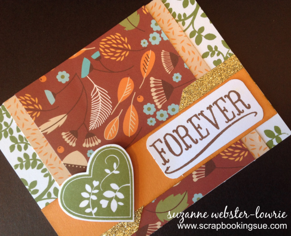 CTMH September Stamp of the Month Card Family is Forever