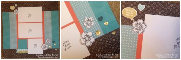 close to my heart ctmh chalk it up scrapbook layout