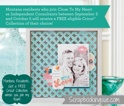 close to my heart free cricut for montana residents