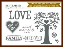 close to my heart september stamp of the month family is forever