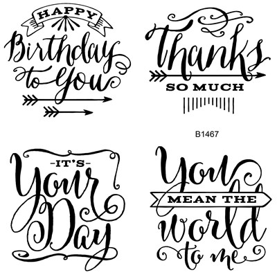 You mean the world to me ctmh stamp set
