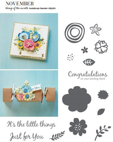 close to my heart ctmh november stamp of the month it's the little things