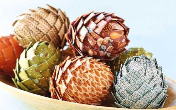 paper pinecones