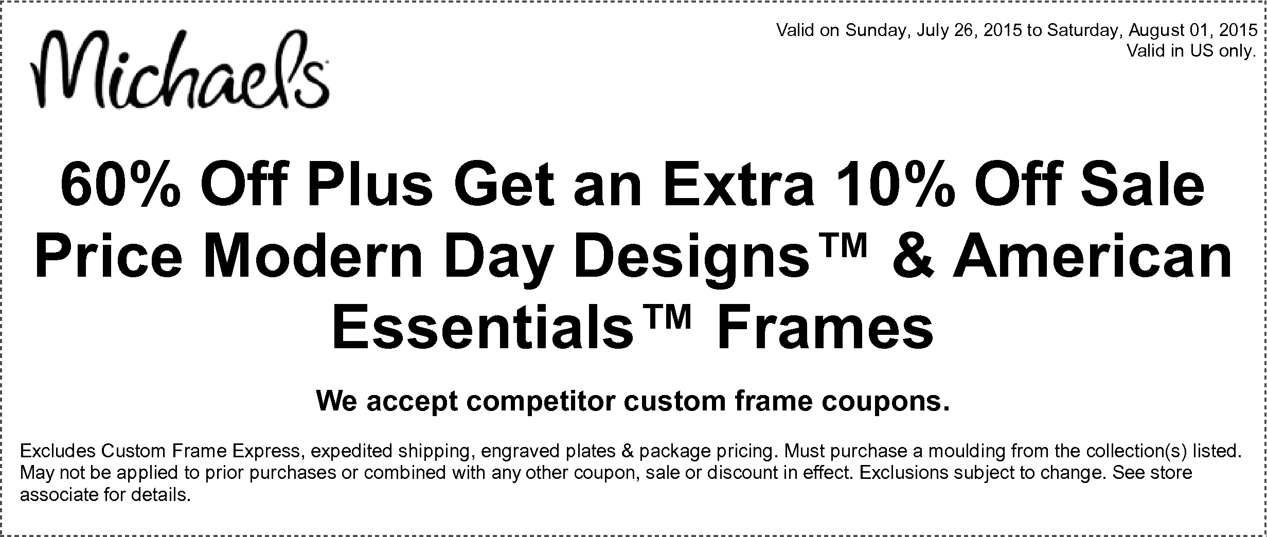 Perfect American Frame Coupon Images - Ideas de Marcos - lamegapromo ...