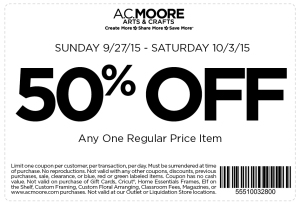 ac moore coupon september 2015
