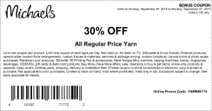 michaels coupon september
