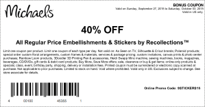 michaels coupon september 2015