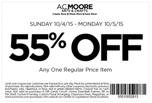 ac moore coupon october 2015