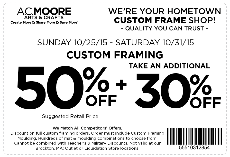 Sunday Savings: Craft Store Coupons and Deals for 10/25/15