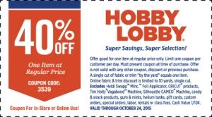 hobby lobby coupon october