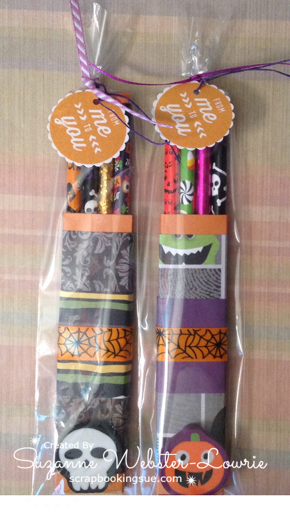 CTMH Halloween Pencil Case and Bookmarks