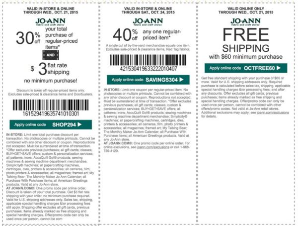 joann coupon october