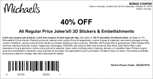 michaels coupon october