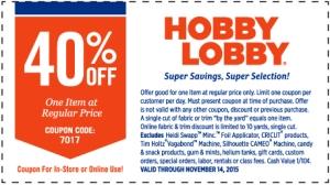 hobby lobby coupon november