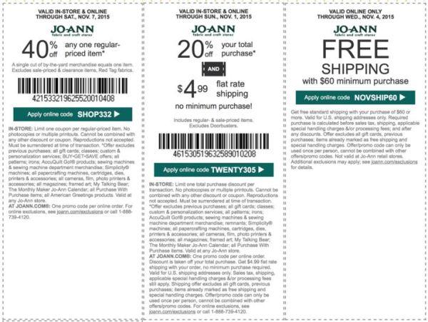 joann coupon november
