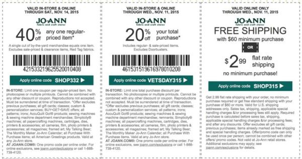 joann coupon november