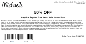 michales coupon november