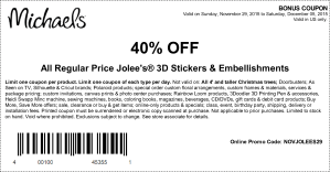michaels coupon november