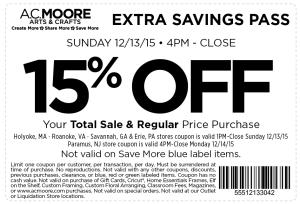 ac moore coupon december
