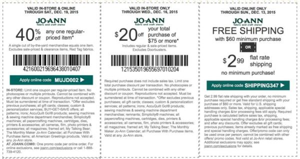 joann coupon december