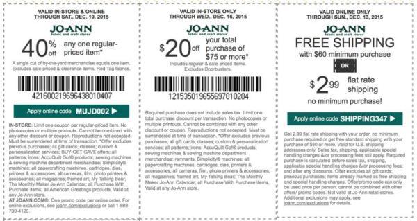 joann coupon december
