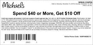 michaels coupon december