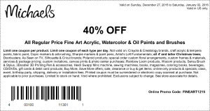 michaels coupon december