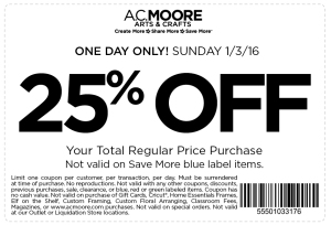 ac moore coupon january