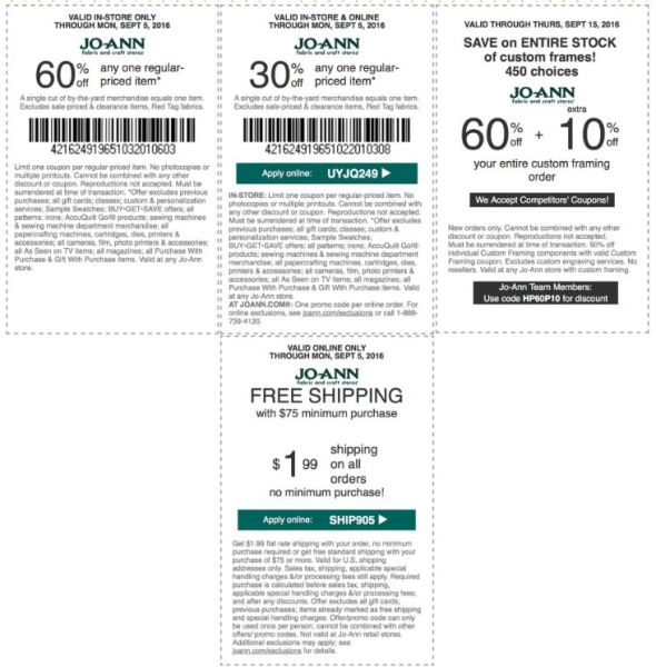 Jo-Ann Coupon September 2016