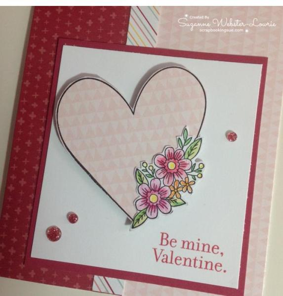 CTMH January SOTM Valentine Card