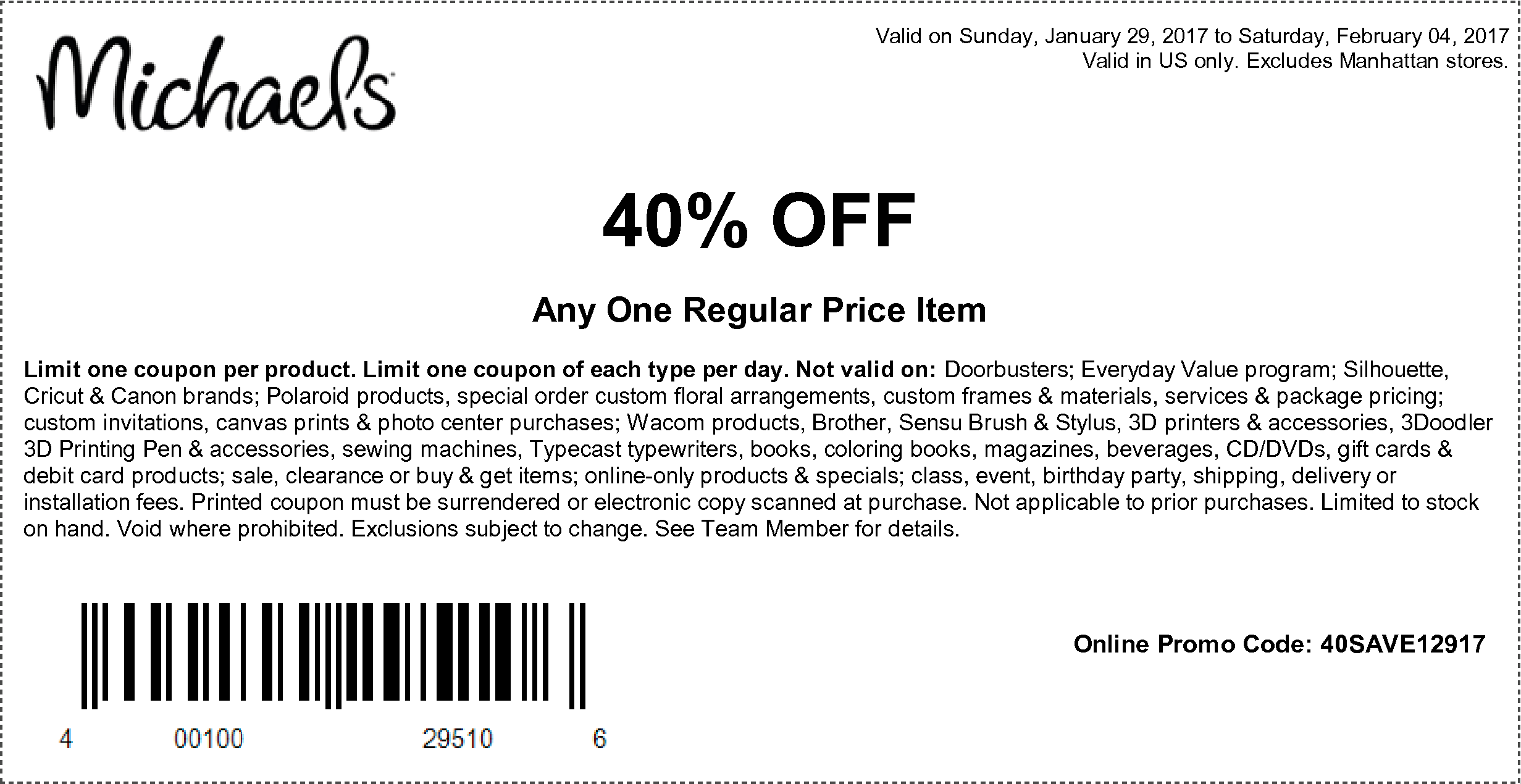 Sunday Savings Craft Store Coupons Deals For 01 29 17