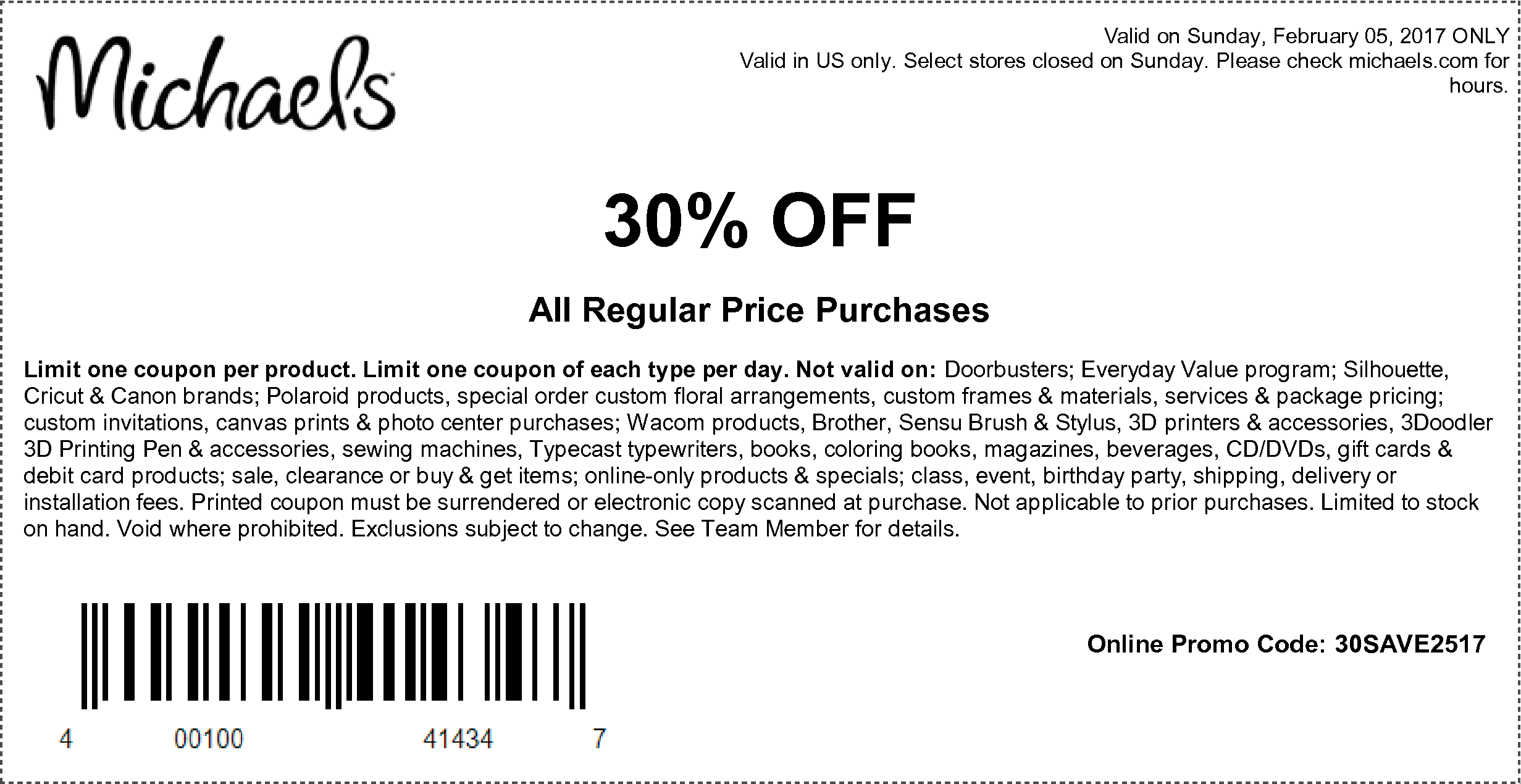 here are the coupons starting 020517