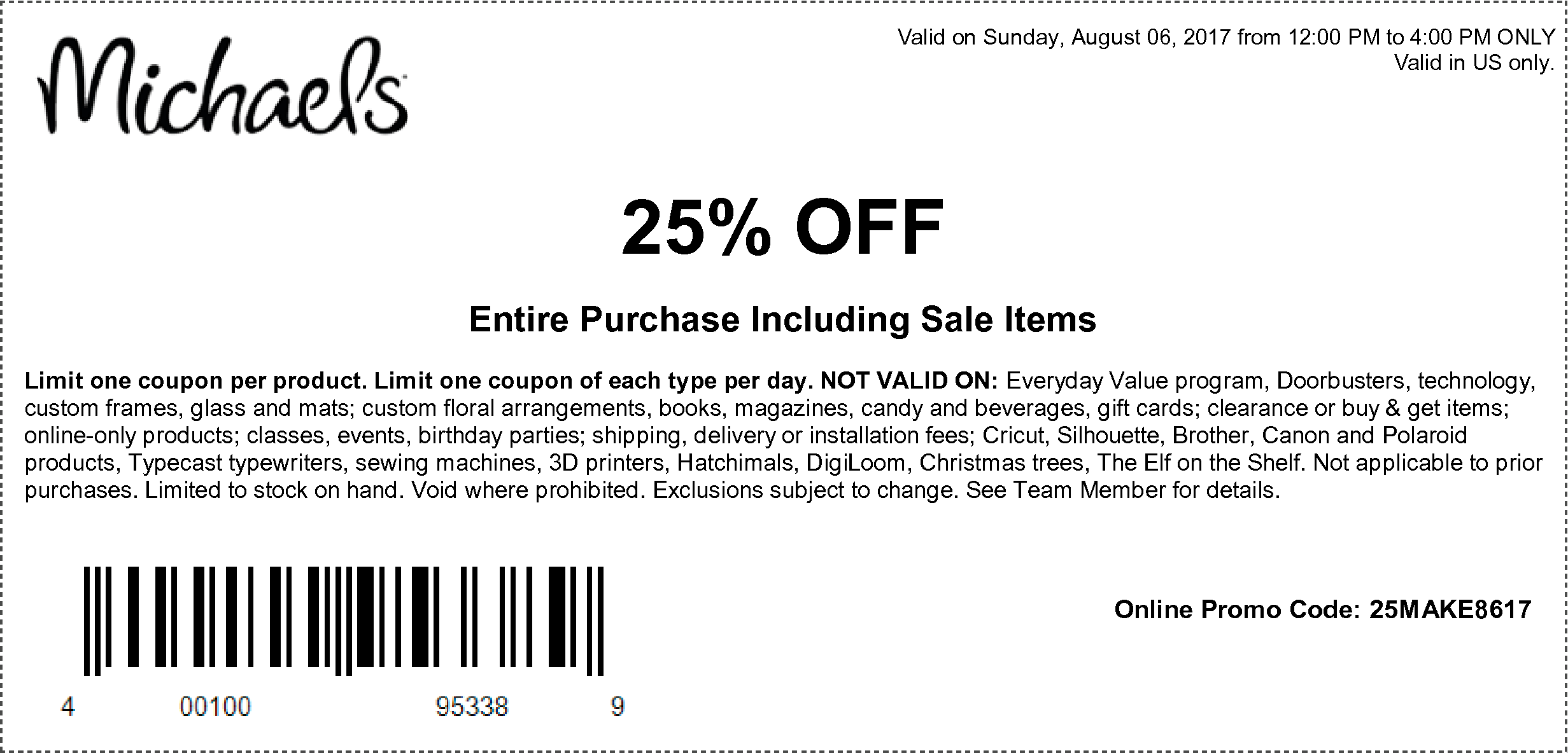 Here Are The Coupons Starting 08 06 17 Michaels