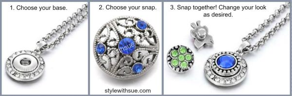 Style with Sue Snap Jewelry